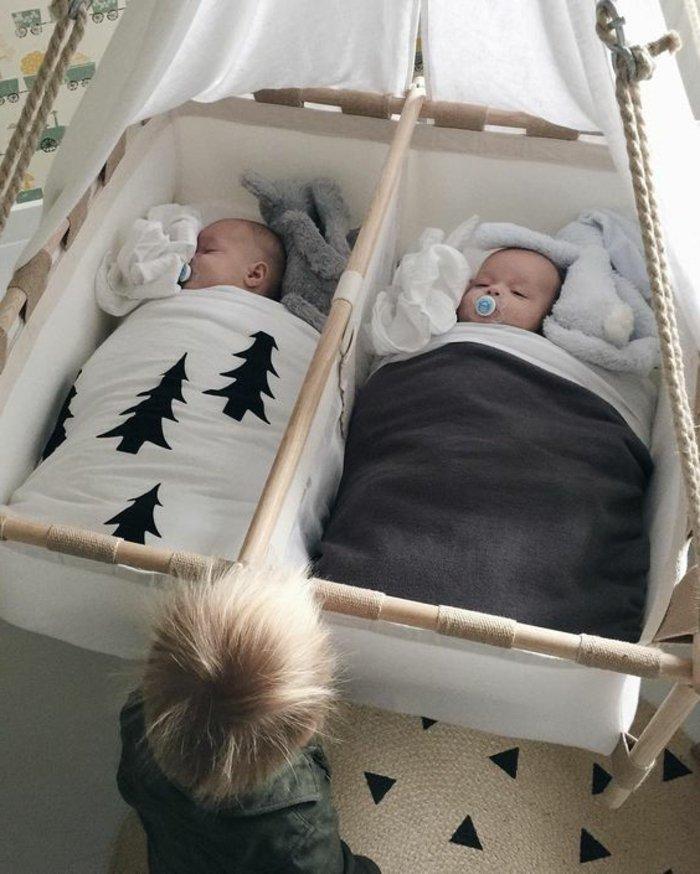 originelle-Babybetten-Modelle-für-Zwillinge