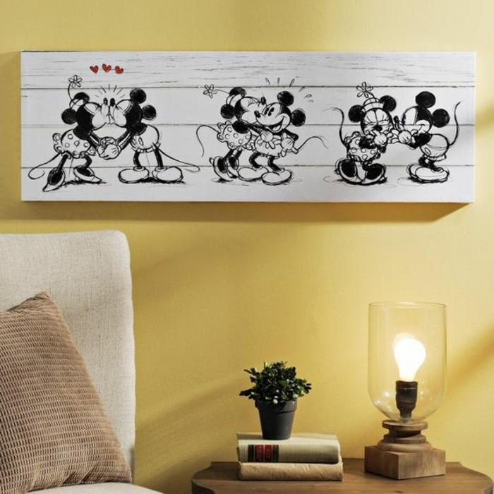 origineller-Leinwand-Druck-Mickey-&-Minnie-Art