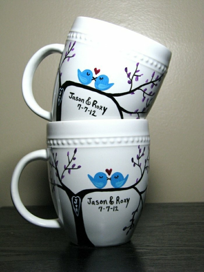 personalisierte-Kaffeetassen-mit-Vögeln-Muster