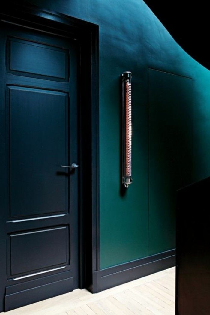 petrol wohnzimmer:wandfarbe petrol wohnzimmer : petrol wandfarbe einmalige tür und