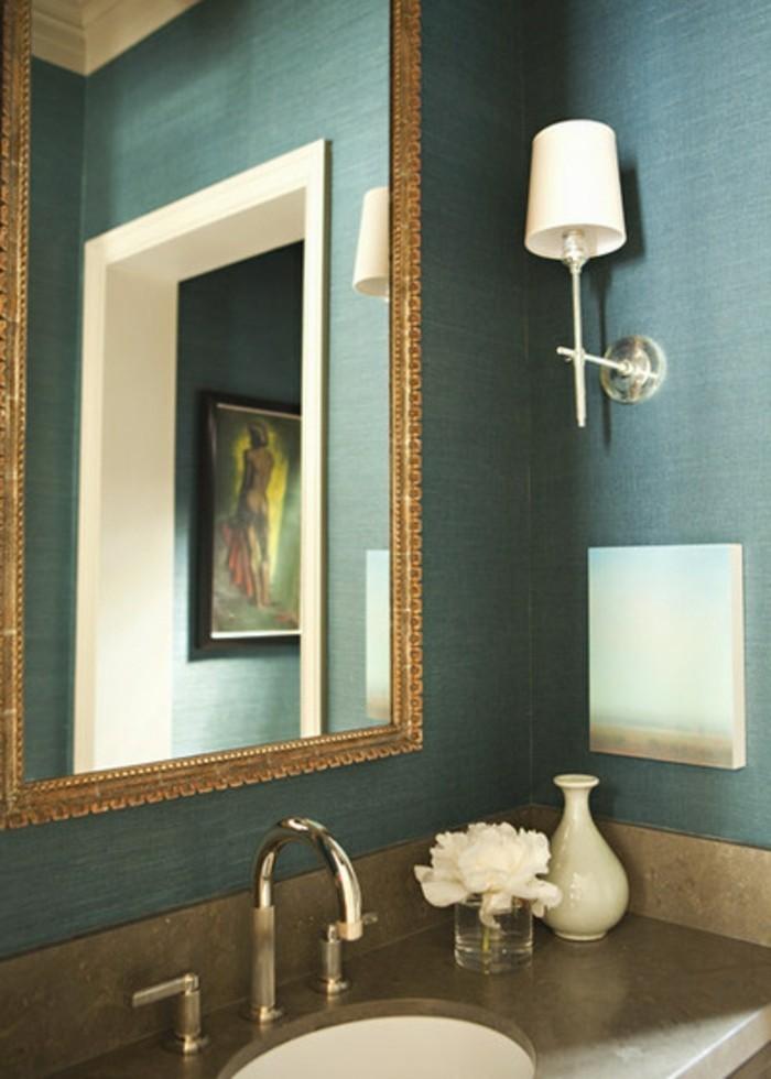 wohnzimmer petrol grau:Farbgestaltung wohnzimmer petrol : petrolgrün im badezimmer