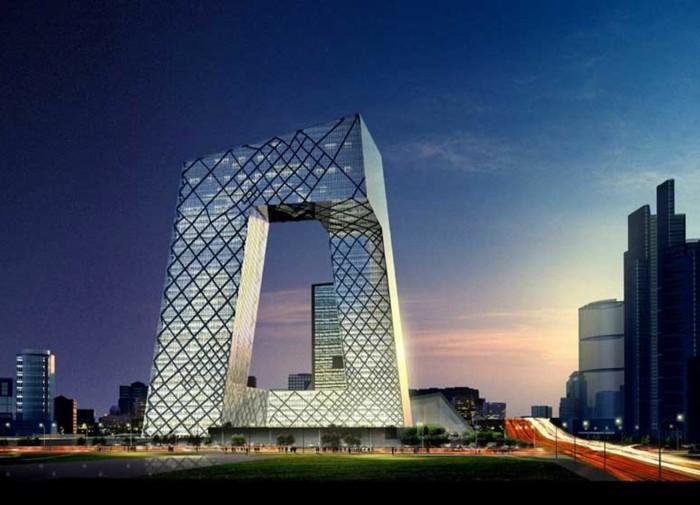 postmoderne-skulptur-das-Fernsehrzentrum-in-China