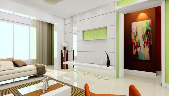 120 wohnzimmer wandgestaltung ideen! - archzine.net - Ideen Wohnzimmerwand