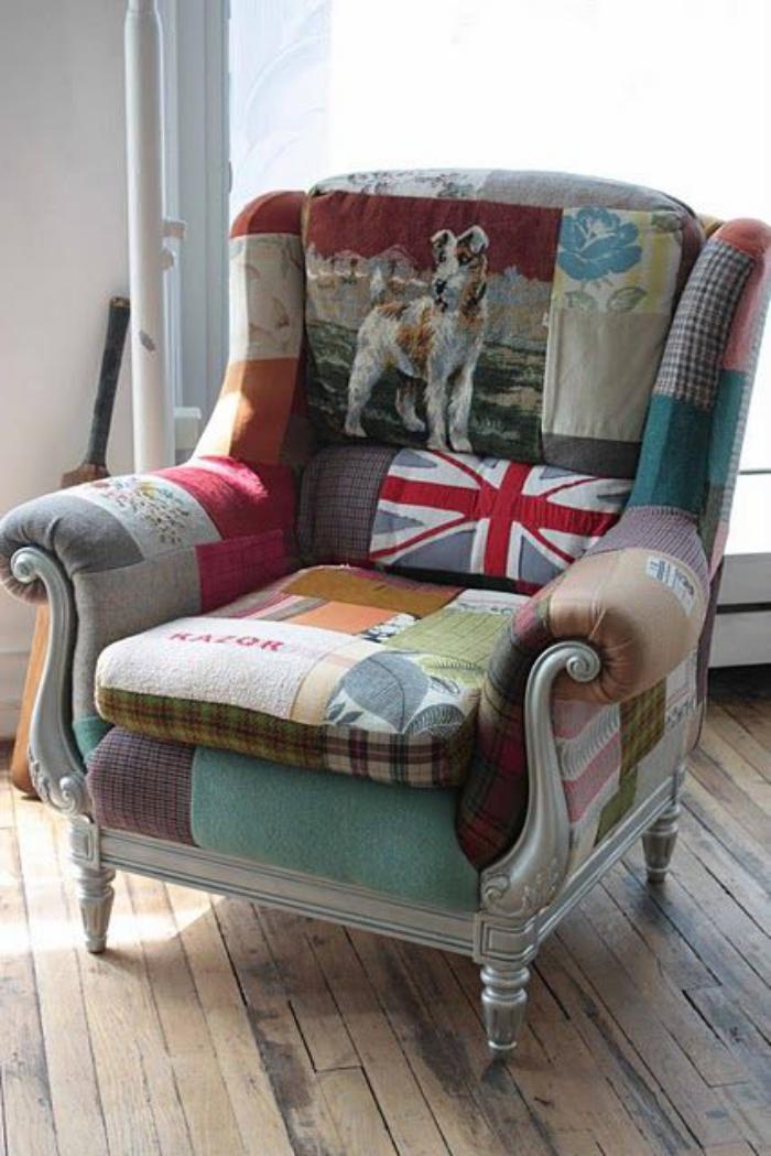 retro-Sessel-mit-beeindruckendem-Muster
