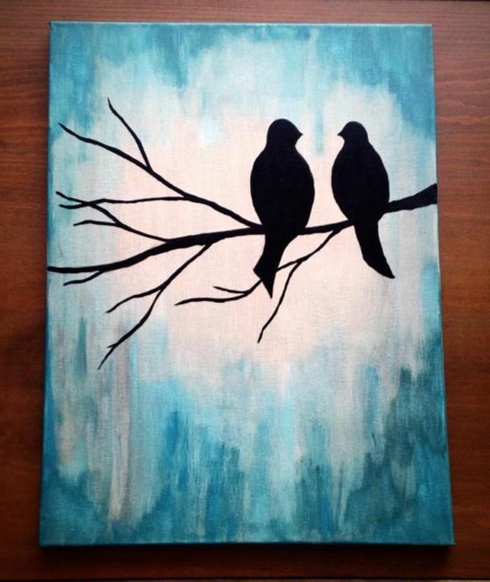 romantisches-Leinwandbild-mit-verliebten-Vögeln