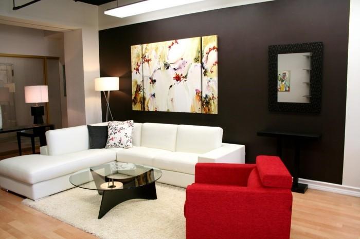 120 wohnzimmer wandgestaltung ideen! - archzine.net - Gestaltung Wohnzimmerwand