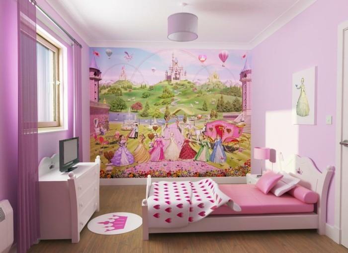 schöne-wandbilder-für-kinderzimmer-in-rosa-farbe
