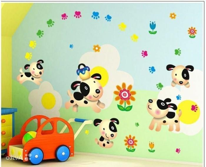 schöne-wandbilder-für-kinderzimmer-mit-kleinen-hunden