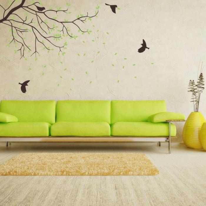 schöne-wandgestaltung-im-wohnzimmer-wände-streichen-ideen