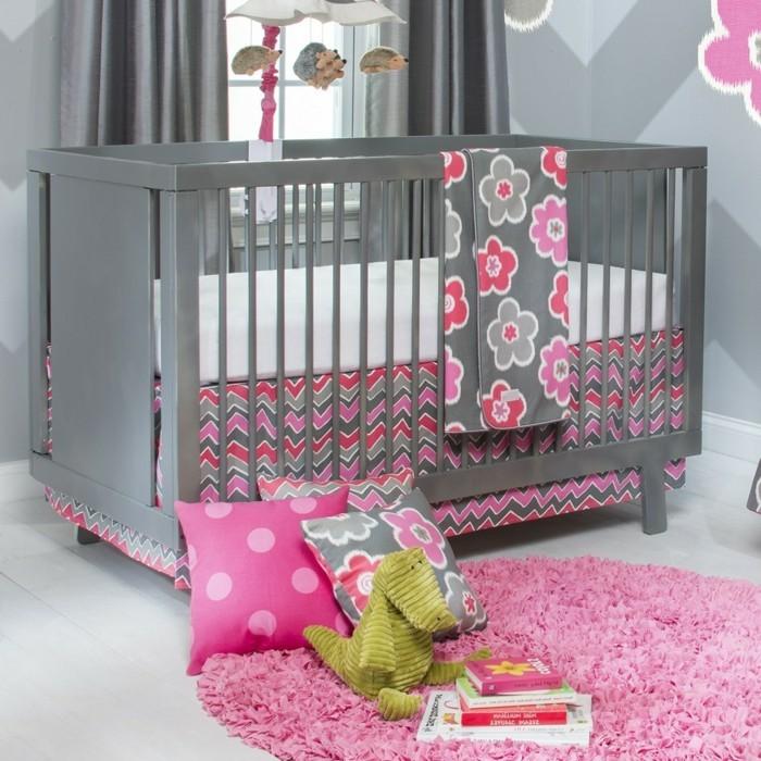 Schönes Graues Modell Baby Kinderbett Mädchen