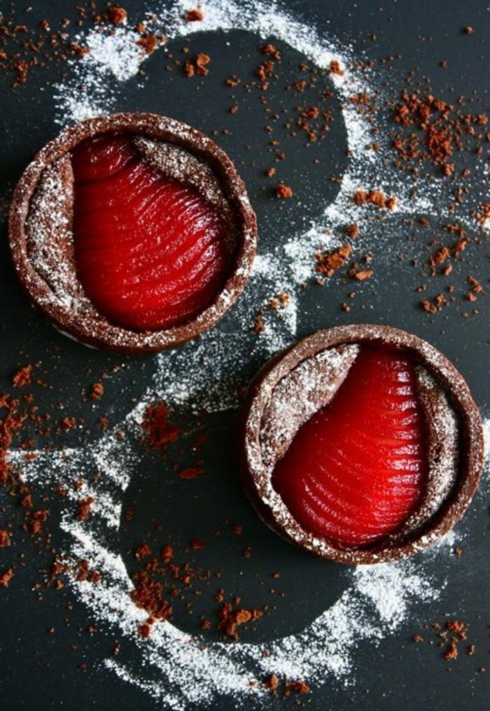 schnelles-Dessert-Schokoladentarts-mit-Himbeeren