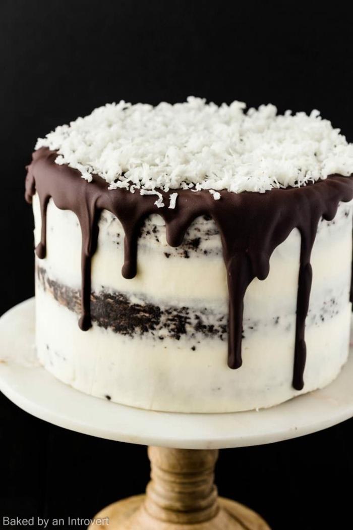 schokolade kokos kuchen zum geburtstag selber machen erwachsenen geburtstag torte ideen