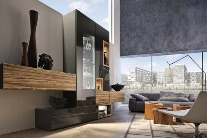 moderne wandgestaltung wohnzimmer alles ber wohndesign und m belideen. Black Bedroom Furniture Sets. Home Design Ideas