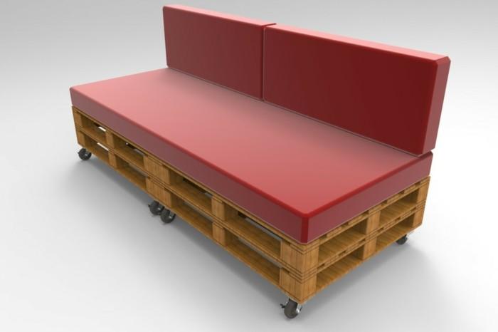 sofa-aus-europaletten-rote-farbe-weißer-hintergrund