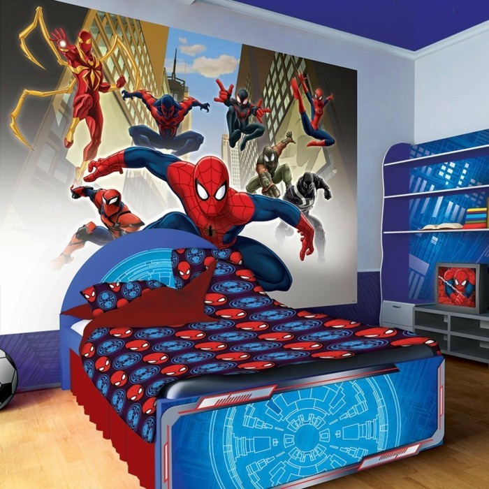 Spiderman Kinderzimmer | 110 Kreative Ideen Fototapete Furs Kinderzimmer Archzine Net