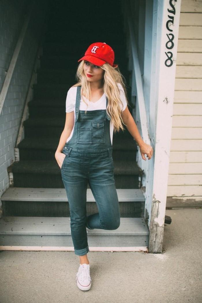 sportlicher-Damen-Outfit-Baseball-Hut