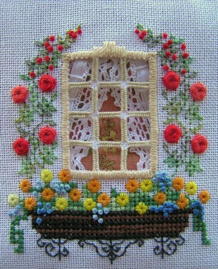 stickvorschläge-kostenlos-ein-Fenster-mit-Blumen