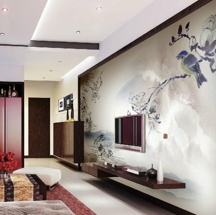 tapete wohnzimmer ideen:super-kreative-wand-deko-ideen-fürs-wohnzimmer-tolles-design