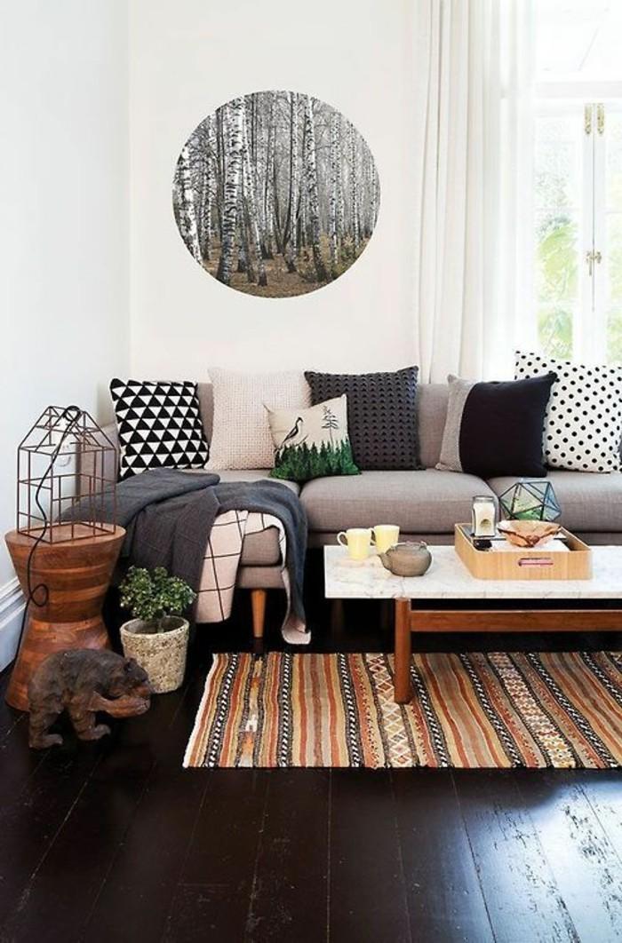 120 wohnzimmer wandgestaltung ideen. Black Bedroom Furniture Sets. Home Design Ideas