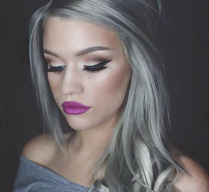 wunderschöne graue haare - aschblond