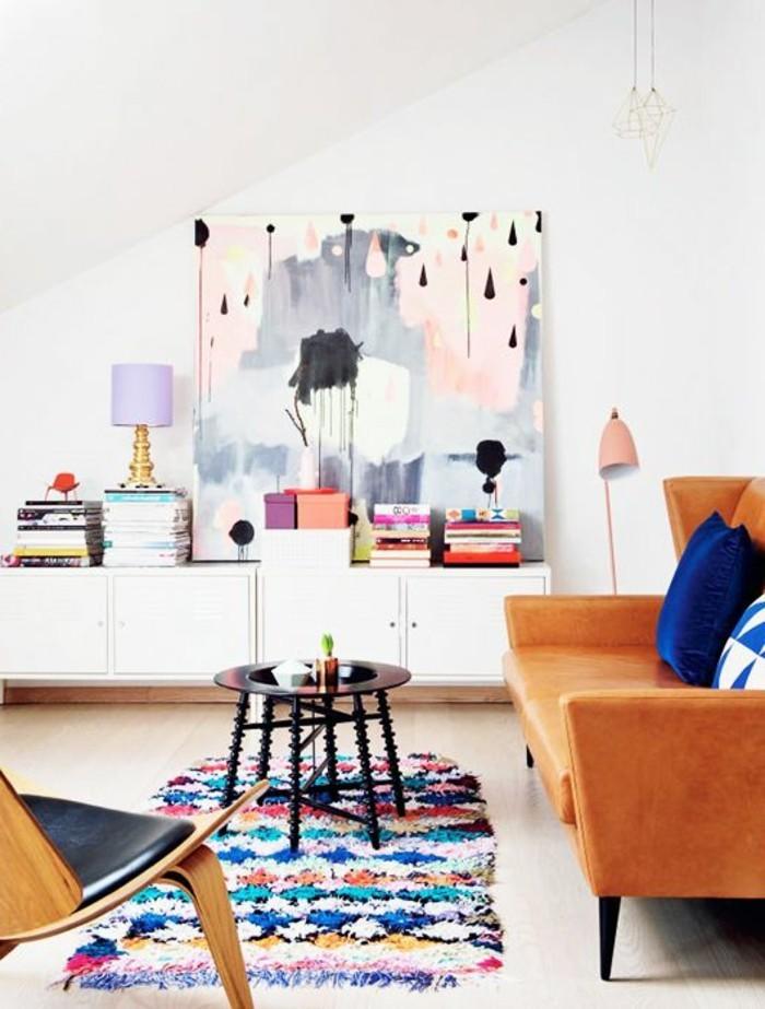 super-tolle-wohnzimmer-wandgestaltung-interessantes-bild-an-der-wand