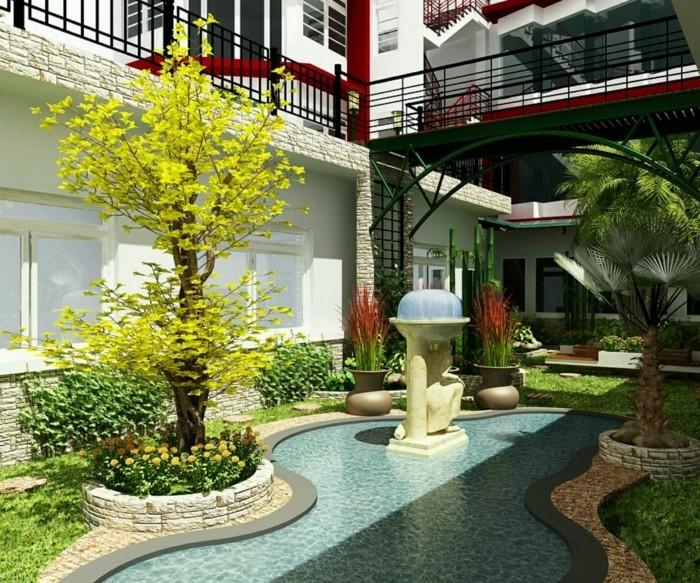 Tolles Exterieur Wunderschönes Modell Vorgarten Sehr Effektvoll