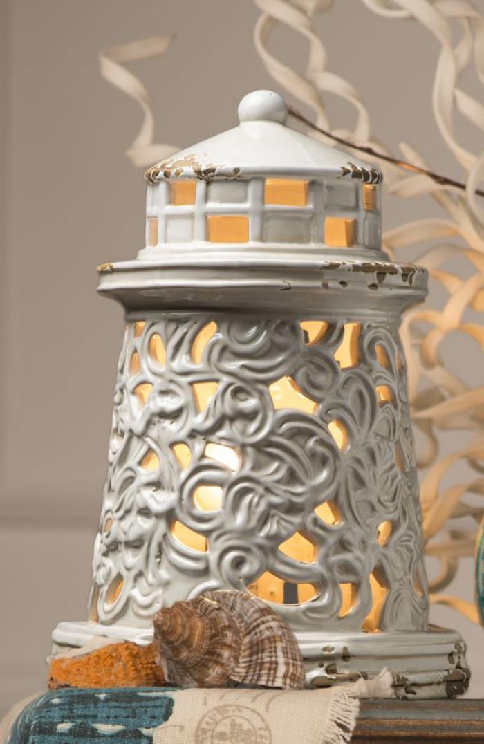 vintage-Kerzenhalter-mit-Leuchtturm-Design