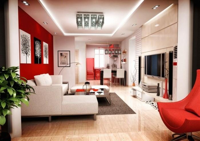 tolles design wohnzimmer mit kreativer zimmerdecke