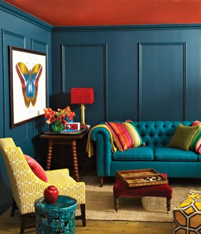 wohnzimmer ideen petrol: wohnzimmer petrol : Farbgestaltung wohnzimmer Wohnzimmer grau