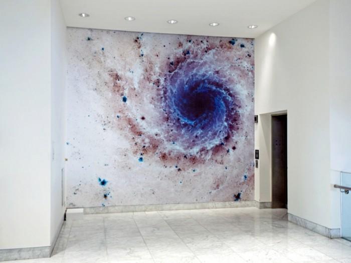 wandtattoo-flur-mit-einer-galaxie
