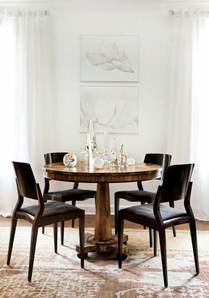 Weiße Wände Dunkle Möbel Esstisch Rund
