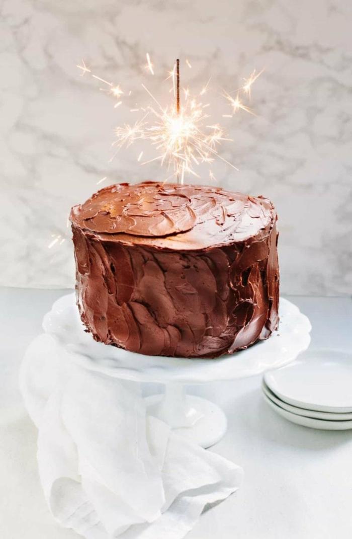 wunderkerze schokoladentorte einfacher geburtstagskuchen rezept selber machen torte zum geburtstag