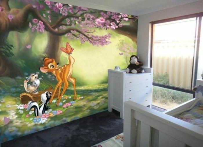 Babyzimmer ideen wandgestaltung dschungel  110 kreative Ideen: Fototapete fürs Kinderzimmer! - Archzine.net