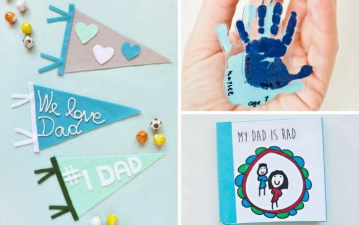 geschenke zum vatertag, kreative diy geschenke, kindergeschenke selber machen