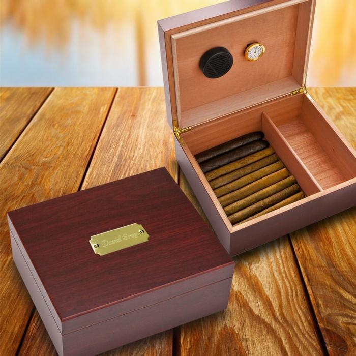 vatertag 2020, zigarren in luxuriöser holzbox, tolle männergeschenke