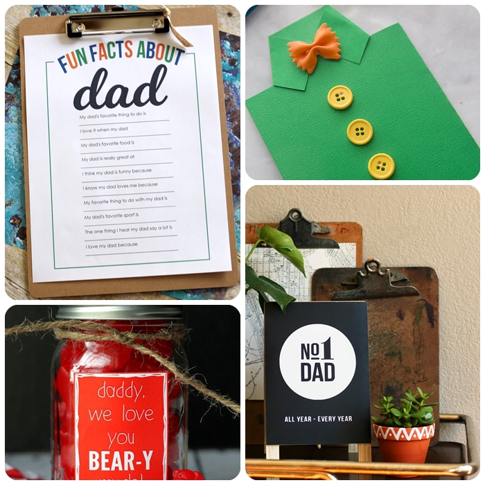 vatertagsgeschenke von kindern, kreative geschenkideen für vater zum selbermachen