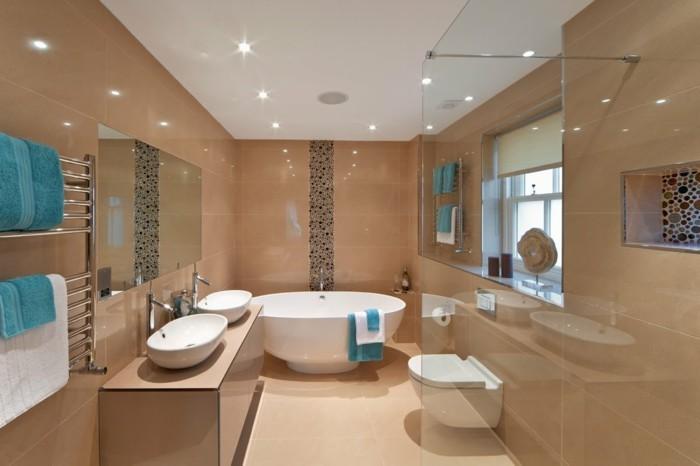 badezimmer ideen mit schwarzen punkten - Ideen Badezimmer