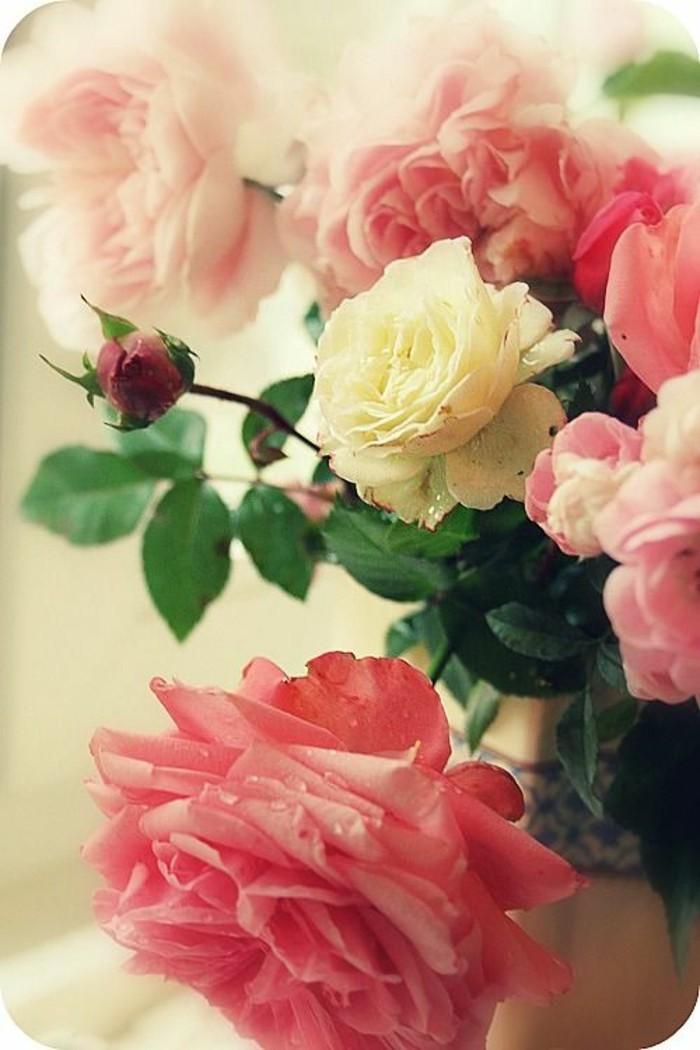 Blumensträuße-Bilder-rosa-und-weiße-Rosen