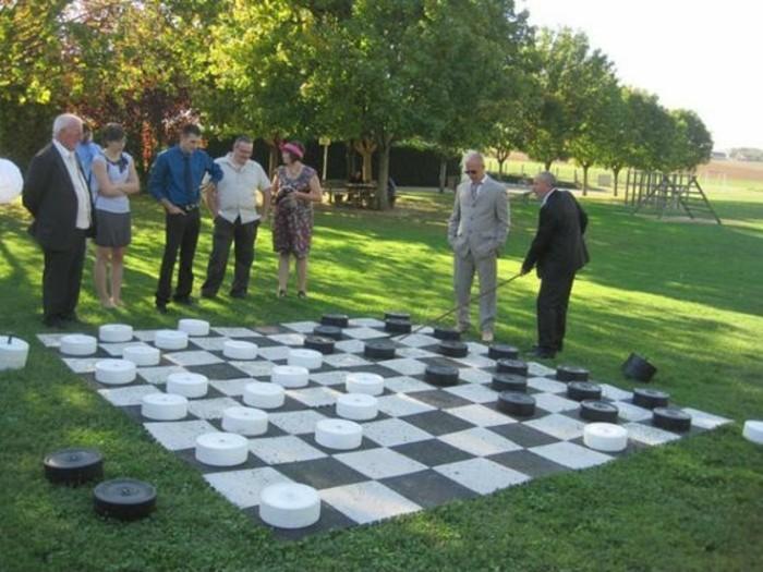 Brettspiel-in-vollständiger-Größe-auf-einer-Wiese