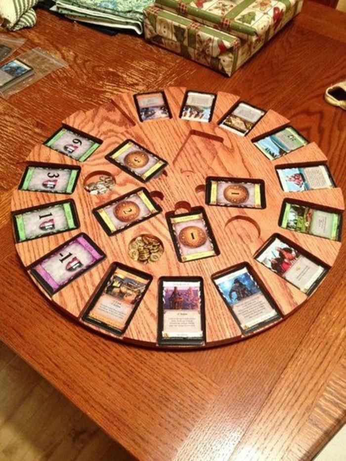Brettspiel-von-Karten-mit-Ziffern
