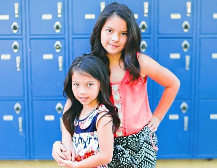 Coole-Kindermode-für-zwei-Schwester