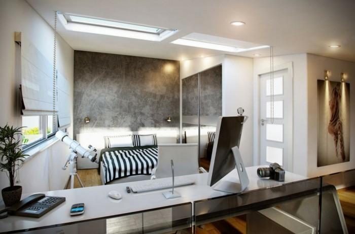 Deckenleuchte-Schlafzimmer-neben-zwei-Fenstern