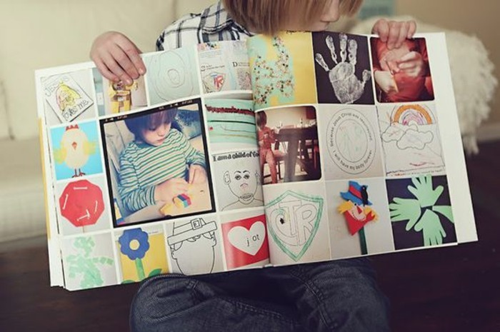 Fotobücher-auch-mit-den-Zeichnungen-von-dem-Kind