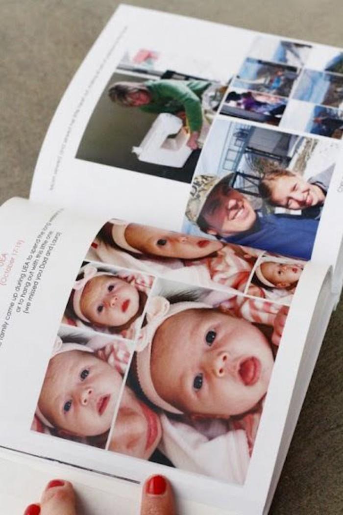 Fotobücher-mit-der-ersten-Aufnahmen-von-Baby