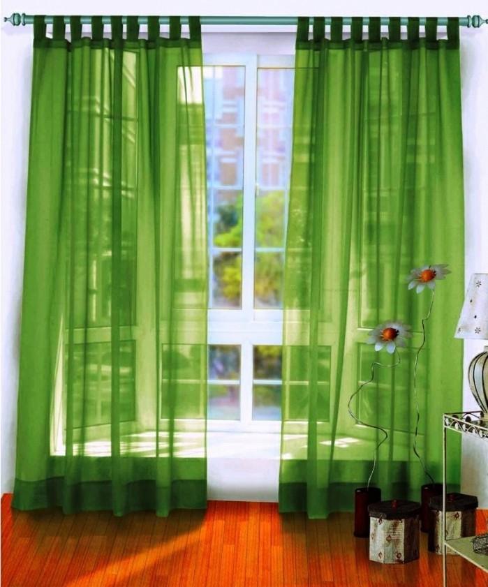 Gardinen-für-Wohnzimmer-in-grüner-Farbe