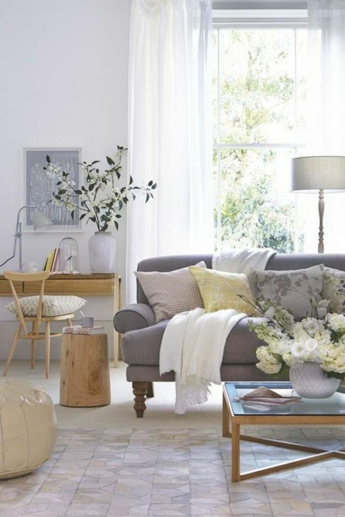 gardinen f r wohnzimmer eine durchsichtige dekoration. Black Bedroom Furniture Sets. Home Design Ideas