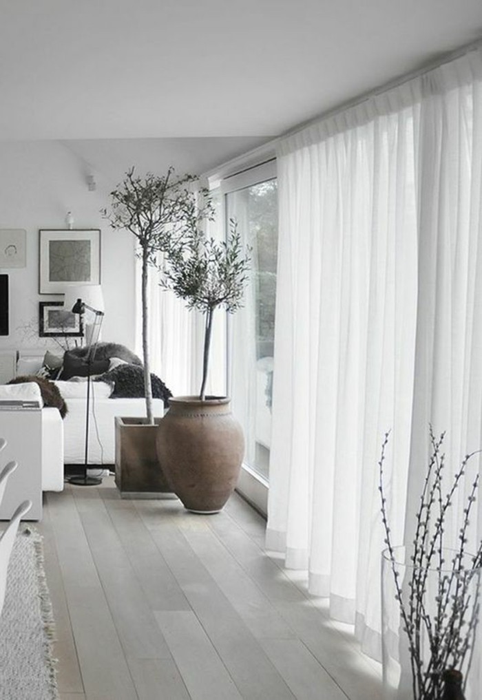 Gardinen für Wohnzimmer - eine durchsichtige Dekoration ...