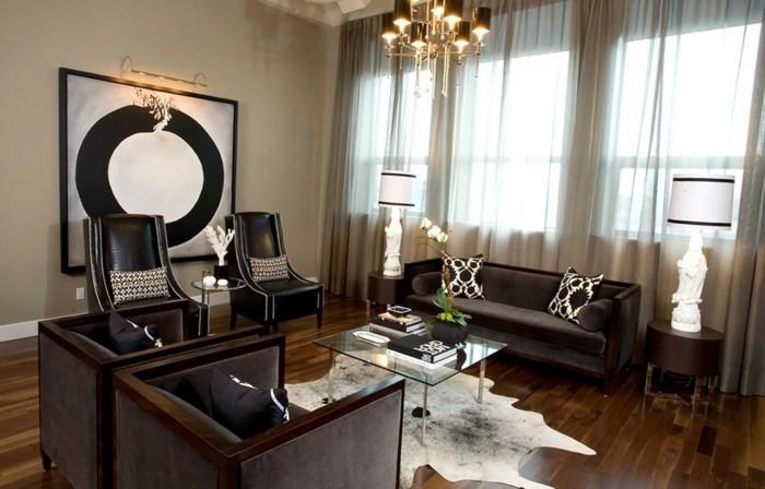 Gardinen-für-Wohnzimmer-sehr-elegantes-Aussehen