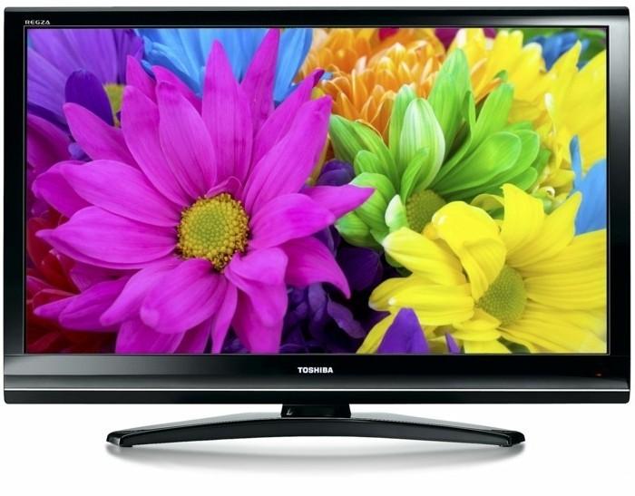 Großer-Fernseher-mit-bunten-Blumen
