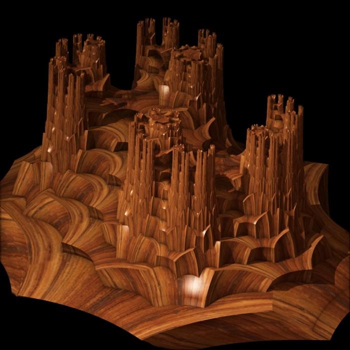 Holzschnitzerei-von-einer-fantastischen-Landschaft